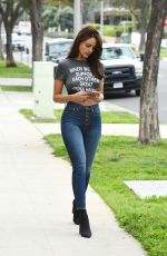 EIZA GONZALEZ in Skinny Jeans Out in Beverly Hills 03/20/2018