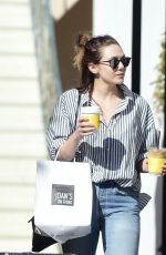 ELIZABETH OLSEN Out for Coffee in Los Angeles 03/28/2018
