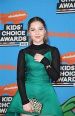 ELLA ANDERSON at 2018 Kids' Choice Awards in Inglewood 03/24/2018