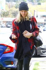 ELLE FANNING at a Fitness Studio in Studio City 03/01/2018