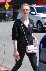 ELLE FANNING Heading to a Gym in Los Angeles 02/28/2018
