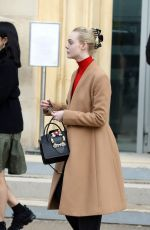 ELLE FANNING Out and About in Paris 03/05/2018