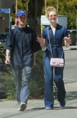 ELLE FANNING Out on a Date in Los Feliz 03/27/2018