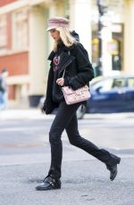 ELSA HOSK in Balenciaga Out in New York 03/16/2018