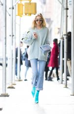 ELSA HOSK Out and About in New York 03/06/2018