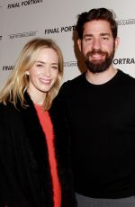 EMILY BLUNT at Final Portrait Screening at Guggenheim Museim in New York 03/22/2018