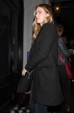 EMILY WICKERSHAM Out for Dinner at Craig