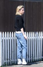 EMMA ROBERTS on a Smoke Break in Los Angeles 03/14/2018