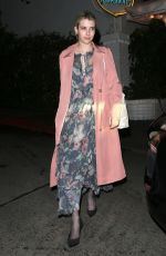 EMMA ROBERTS Out for Dinner at Chateau Marmont in West Hollywood 03/21/2018
