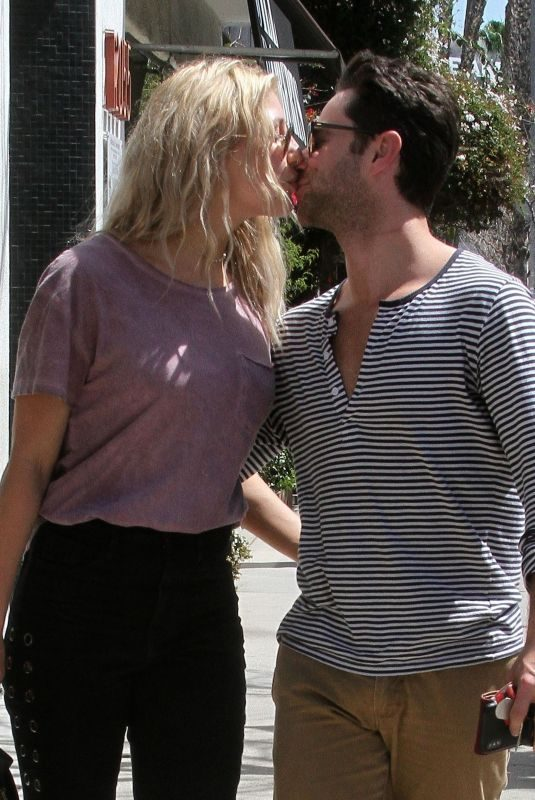 EMMA SLATER and Sasha Farber Out in Studio City 03/30/2018