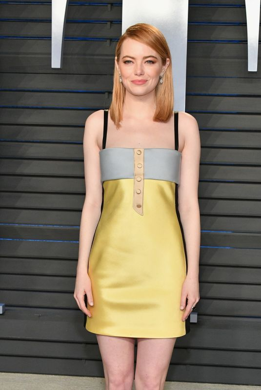 EMMA STONE at 2018 Vanity Fair Oscar Party in Beverly Hills 03/04/2018