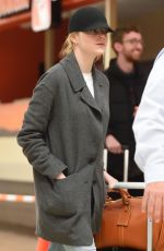EMMA STONE at JFK Airport in New York 03/26/2018