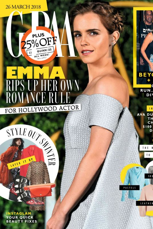 EMMA WATSON in Grazia Magazine, UK March 2018 Issue