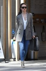 EMMY ROSSUM at a Pressed Juicery in Beverly Hills 03/08/2018