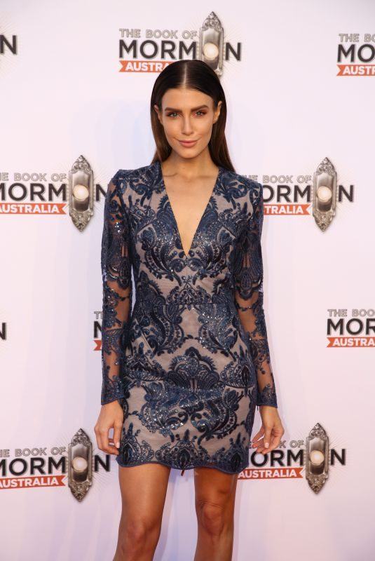 ERIN HOLLAND at The Book of Mormon Opening Night in Sydney 03/09/2018