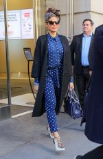 EVA MENDES Out and About in New York 03/19/2018