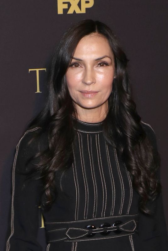 FAMKE JANSSEN at Tust Show Screening in New York 03/14/2018