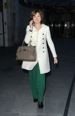 FIONA BRUCE Arrives at BBC Studio in London 03/26/2018
