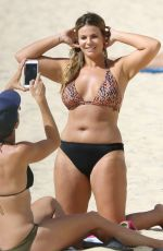FIONA FALKINER and LARA CREBER in Bikinis at Coogee Beach in Sydney 03/08/2018