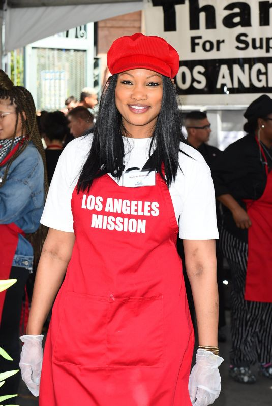 GARCELLE BEAUVAIS at Los Angeles Mission Easter Celebration 03/30/2018