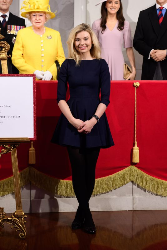 GEORGIA TOFFOLO Opens Royal Balcony Experience at Madame Tussauds in London 03/26/2018