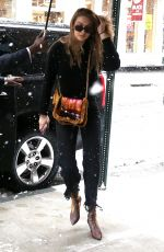 GIGI HADID Arrives at a Studio for Maybelline Photoshoot in New York 03/21/2018