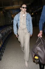 GIGI HADID at LAX Airport in Los Angeles 03/26/2018