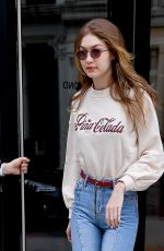 GIGI HADID Leaves Her Apartment in New York 03/20/2018