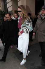 GIGI HADID Out and About in Paris 03/01/2018