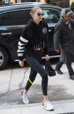 GIGI HADID Out in New York 03/09/2018