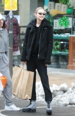 GIGI HADID Out Shopping in New York 03/08/2018