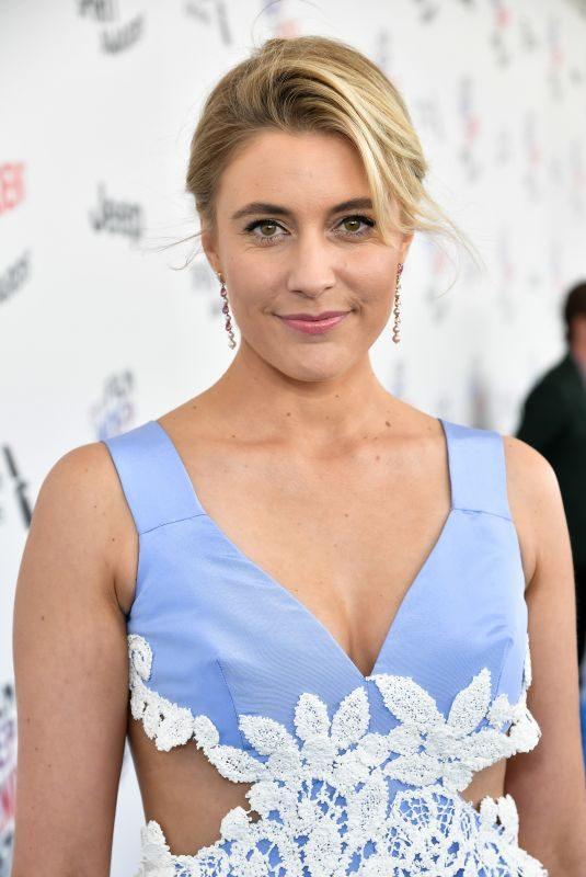 GRETA GERWIG at 2018 Film Independent Spirit Awards in Los Angeles 03/03/2018