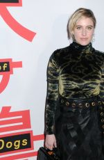 GRETA GERWIG at Isle of Dogs Premiere in New York 03/20/2018