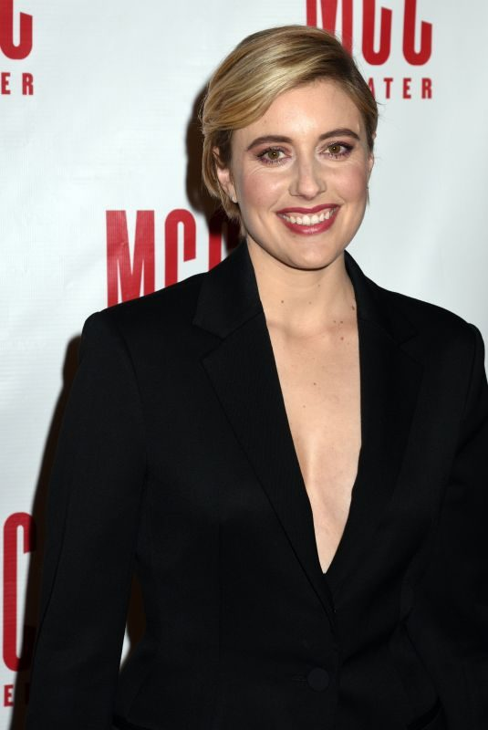 GRETA GERWIG at MCC Theater's Miscast Gala in New York 03/26/2018