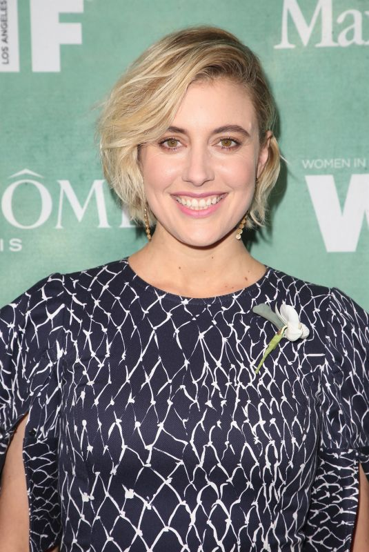 GRETA GERWIG at Women in Film Pre-oscar Cocktail Party in Los Angeles 03/02/2018