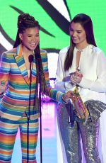 HAILEE STEINFELD and STORM REID at 2018 Kids' Choice Awards in Inglewood 03/24/2018