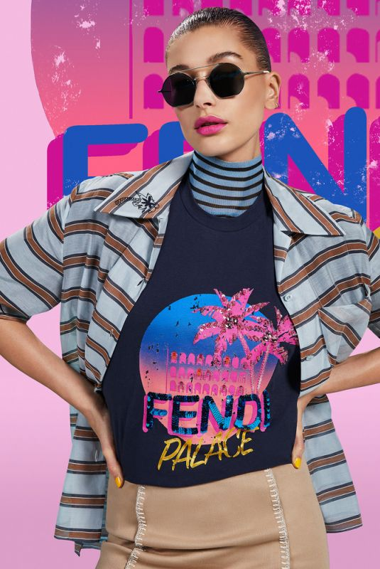 HAILEY BALDWIN for Fendi Pop Tour Spring 2018 Campaign