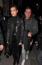 HAILEY BALDWIN Leave Off-white Fashion Show in Paris 03/01/2018