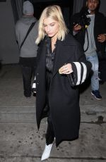HAILEY BALDWIN Out for Dinner in West Hollywood 03/09/2018
