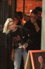 HAILEY BALDWIN Out for Dinner in West Hollywood 03/28/2018