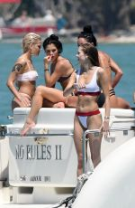 HALSEY and JOSIE CANSECO in Bikinis at a Yach in Miami 03/26/2018