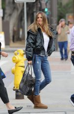HEIDI KLUM Arrives at Americas Got Talent Auditions in Pasadena 03/07/2018