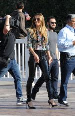 HEIDI KLUM on the Set of America