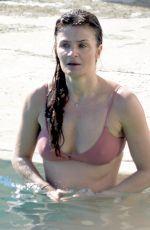 HELENA CHRISTENSEN in Bikini on the Beach in Sydney 03/11/2018