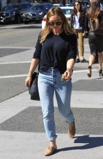 HILARY DUFF Leaves Il Pastaio in Los Angeles 03/05/2018