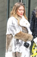HILARY DUFF on the Set of Younger in New York 03/27/2018