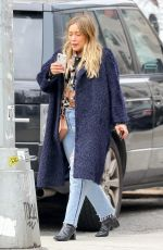 HILARY DUFF Out and About in New York 03/26/2018
