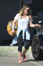 HILARY DUFF with Her Trainer at a Gym in Beverly Hills 03/05/2018