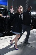 HILARY SWANK Arrives at Good Morning America in New York 03/19/2018