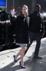HILARY SWANK Arrives at Good Morning America in New York 03/19/2018